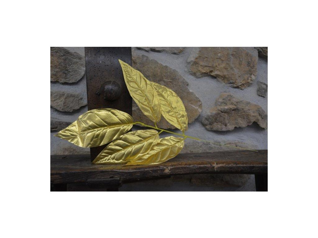 CERINO Umělá květina zlatý list 60cm