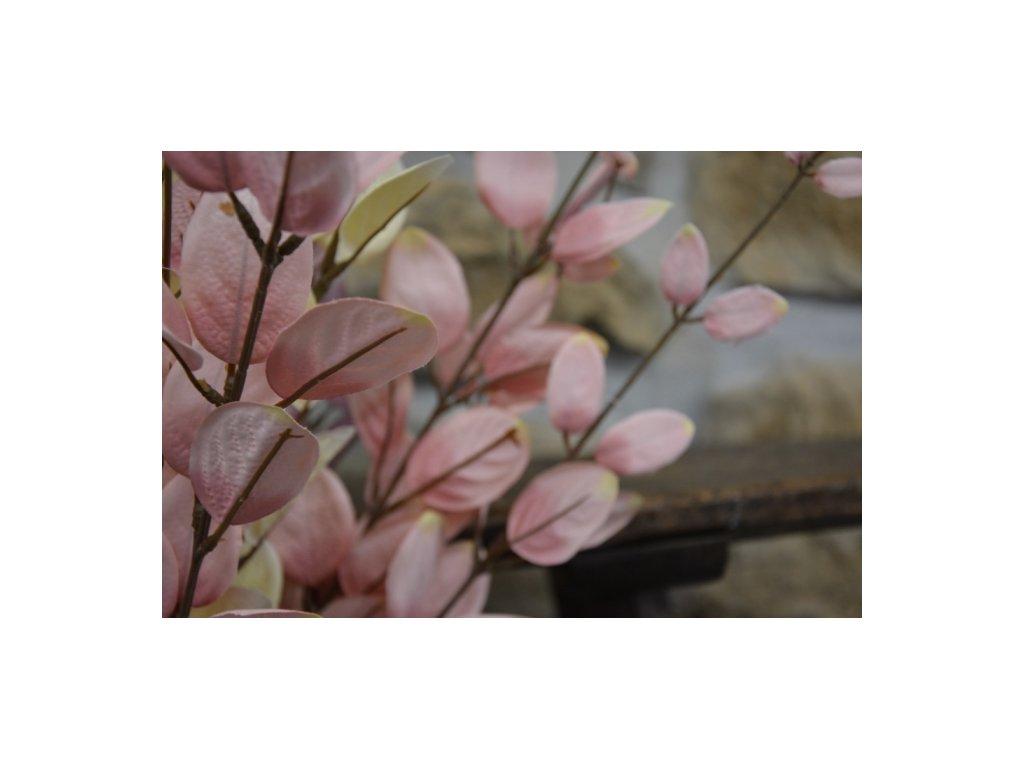 """CERINO Umělá květina """"penízek"""" růžová 110cm 1ks větvičky"""