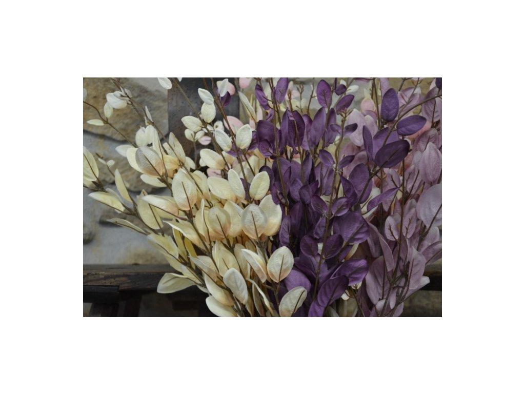 """CERINO Umělá květina """"penízek"""" lila 110cm 1ks větvičky"""