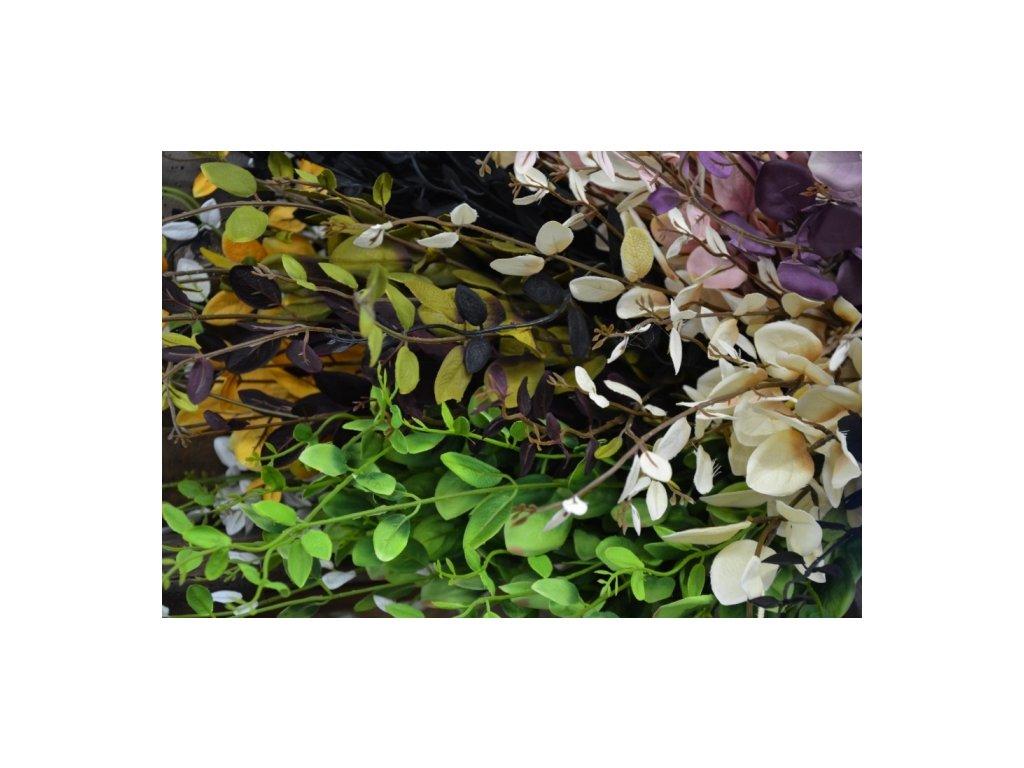 """CERINO Umělá květina """"penízek"""" oliva 110cm 1ks větvičky"""