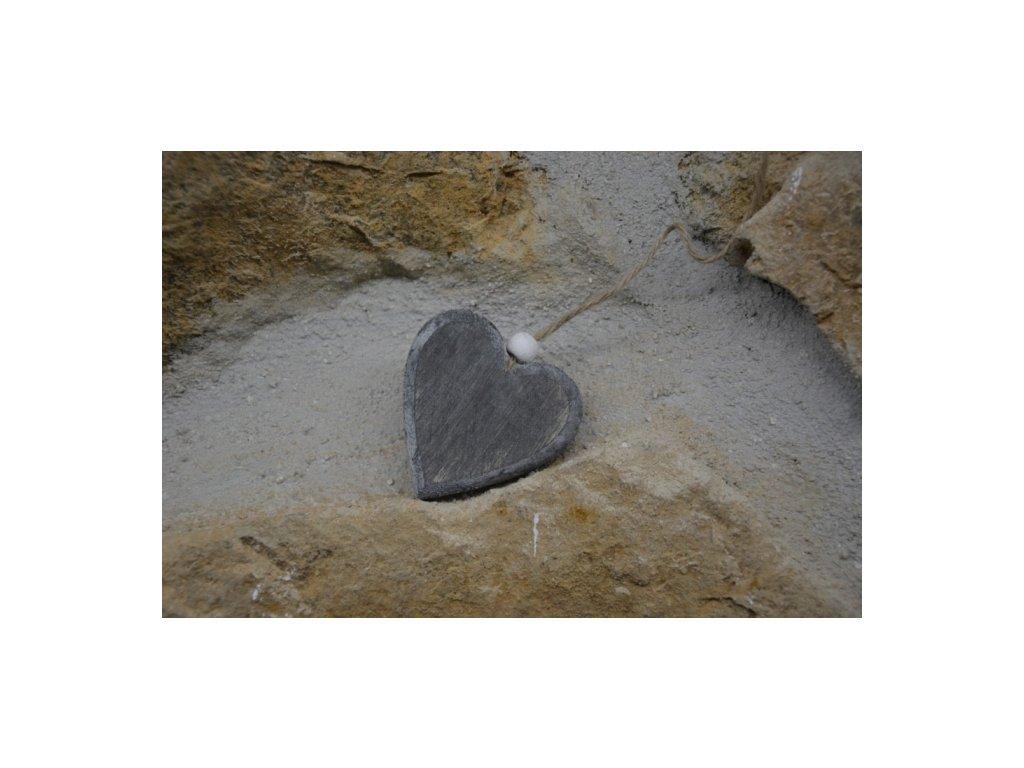 CERINO Dřevěné srdce SCANDI 6cm x 6cm