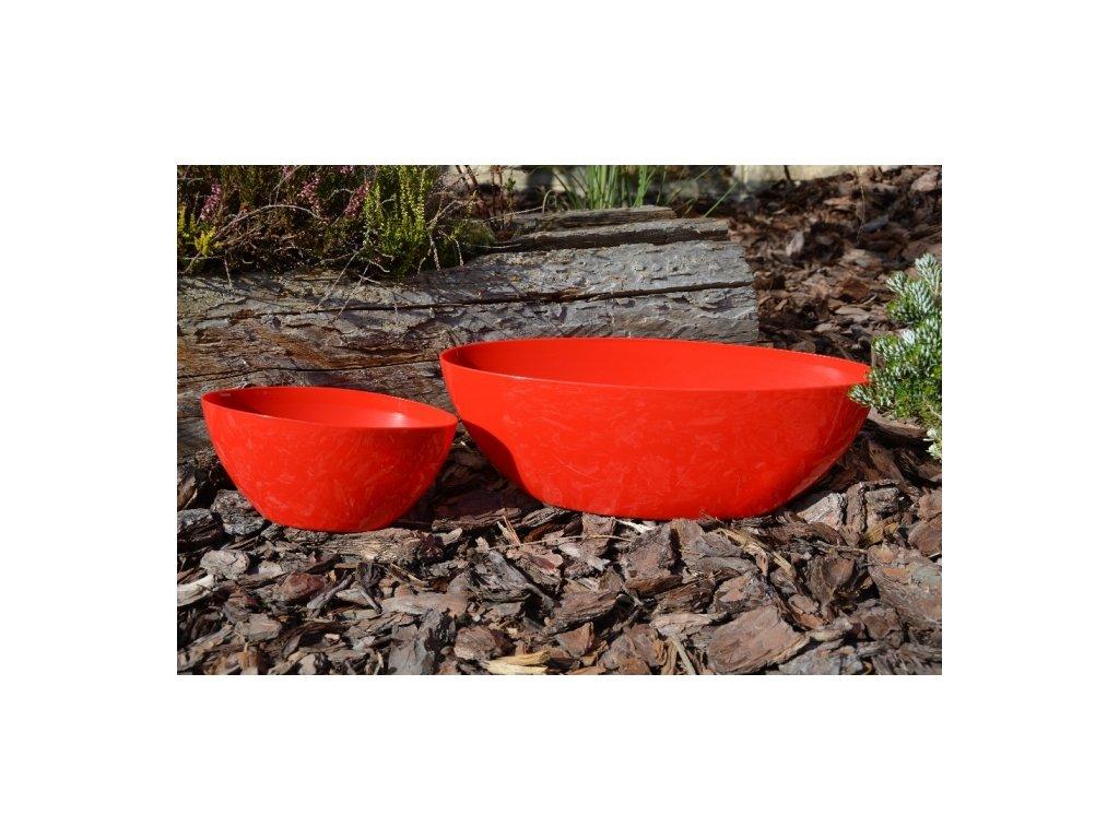 Prosperplast Truhlík ovál, 38x16 výška 13cm, červený