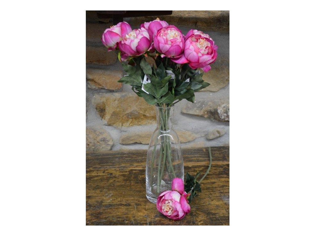 CERINO Umělá květina Pivoňka 48cm - růžová 1ks