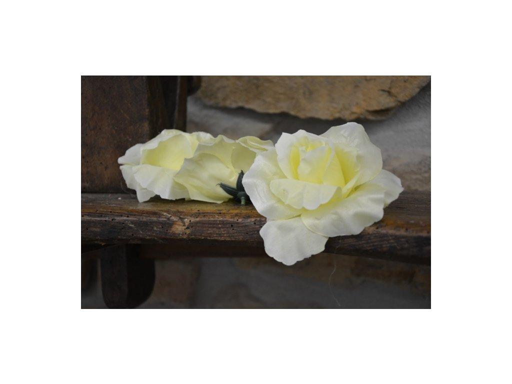 CERINO Umělá květina Květ 11cm vanilková
