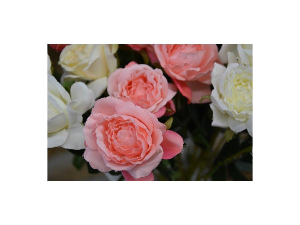 CERINO Umělá květina Růže 50cm růžová 1ks