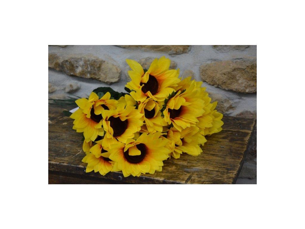 CERINO Umělá květina Slunečnice 70cm jeden květ