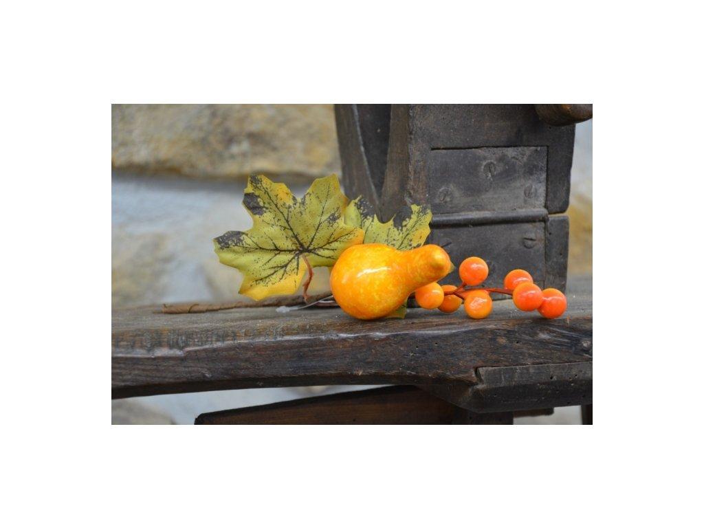 Cerino podzimní větvička tykev délka 30cm