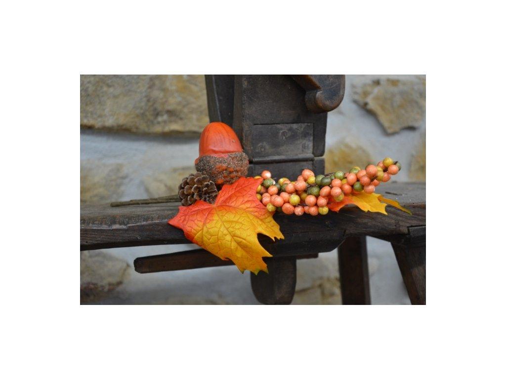 Cerino podzimní větvička Žalud délka 30cm