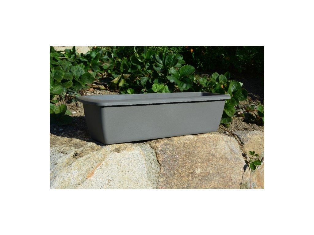 Prosperplast Truhlík Espana ISE400P 39,2x18,4x14,5cm šedý kámen