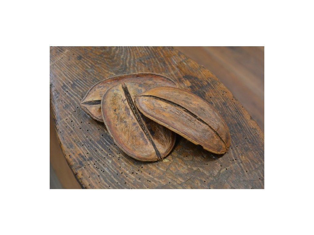 Cerino list ve tvaru KÁVY 12 - 16cm hnědý