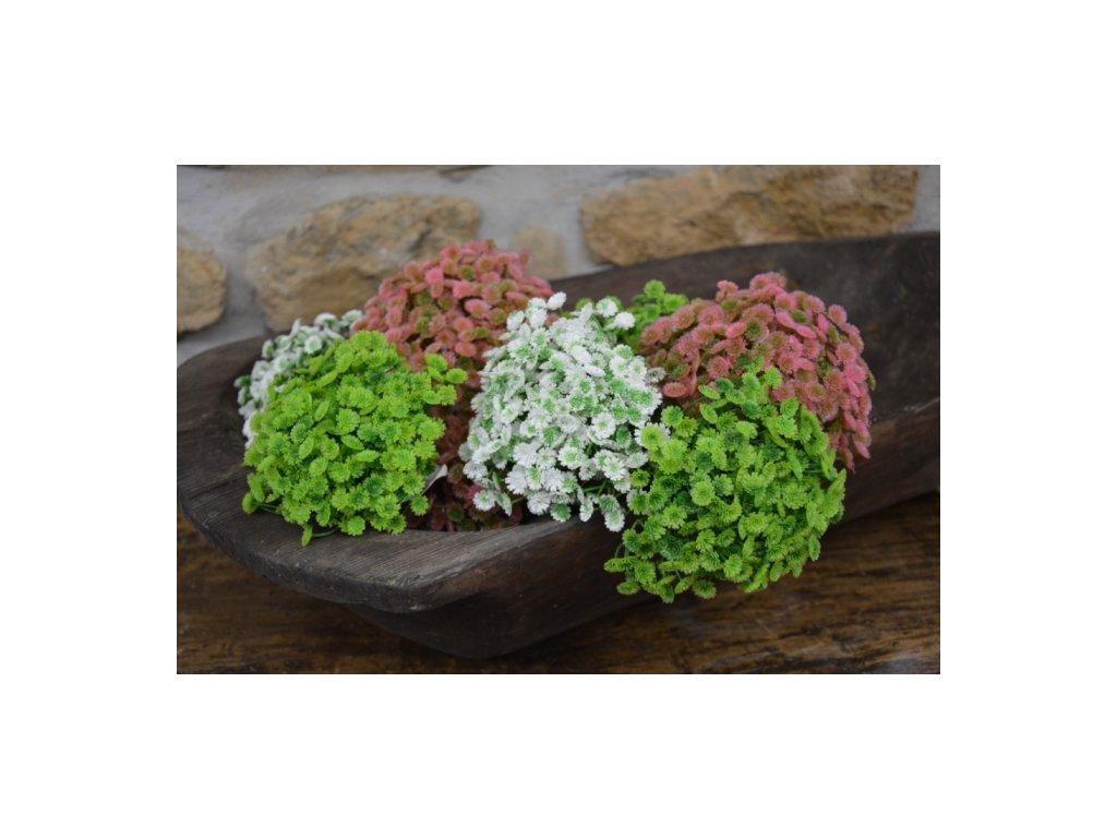 CERINO Umělá květina drobnokvětá délka 20cm zelená