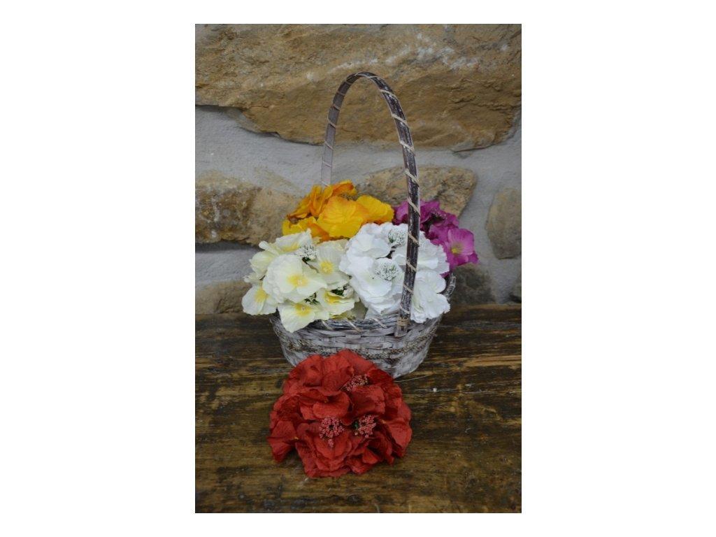 CERINO Umělá květina HORTENZIE trs aranžovací 15cm červená 1ks