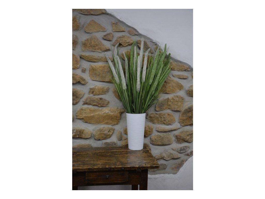 Cerino pik tráva rákos 94cm zelený 3ks květ