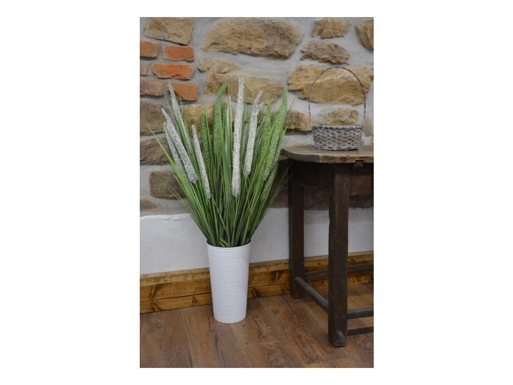Cerino pik tráva rákos 94cm bílý 3ks květ
