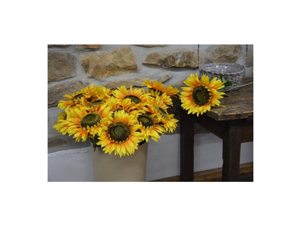 CERINO Umělá květina Slunečnice 80cm 1květ 20cm