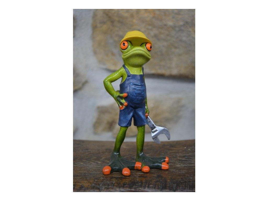 Cerino figurka žába INSTALATÉR 18 x 9 cm