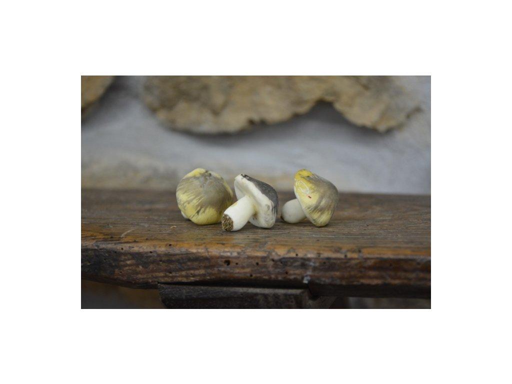 CERINO Umělá houba holubinka zelená 3cm