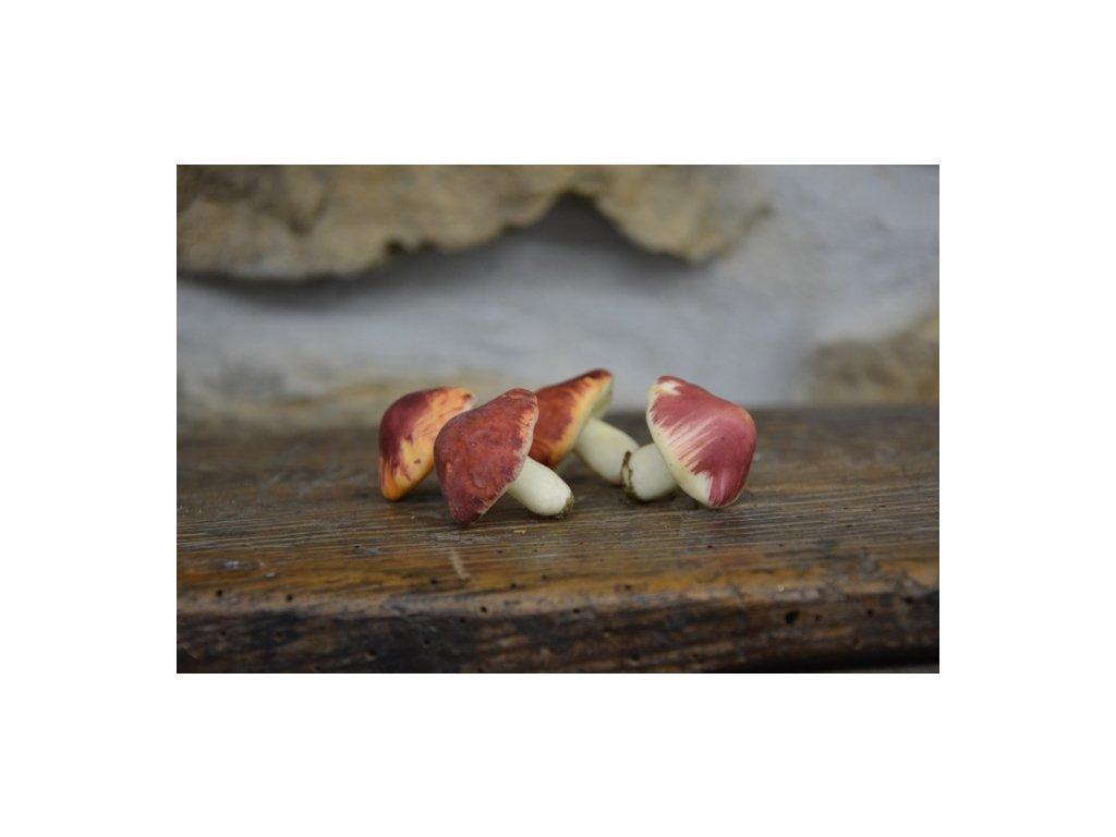 CERINO Umělá houba holubinka červená 3cm