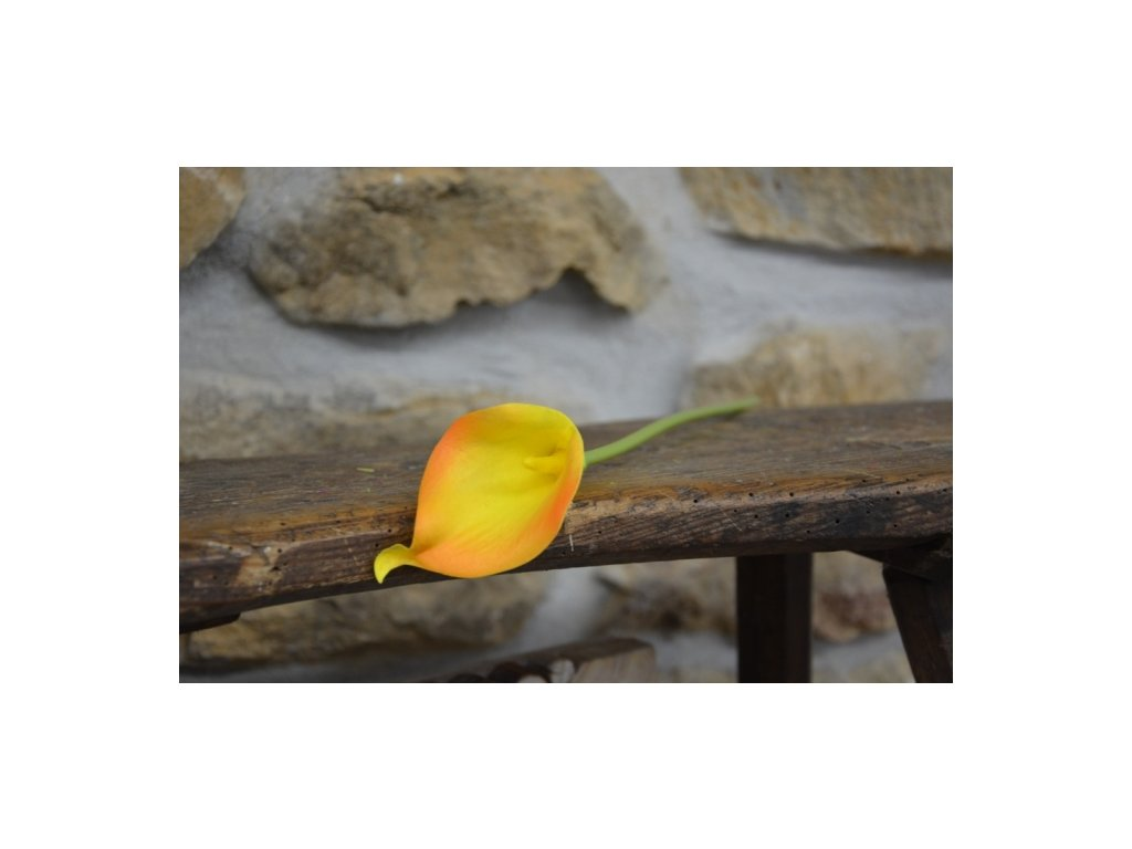 CERINO Umělá květina Kala 37cm oranžová