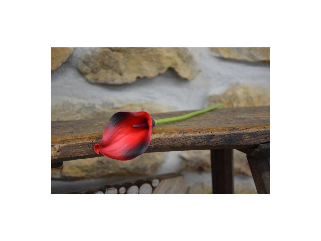 CERINO Umělá květina Kala 37cm červená