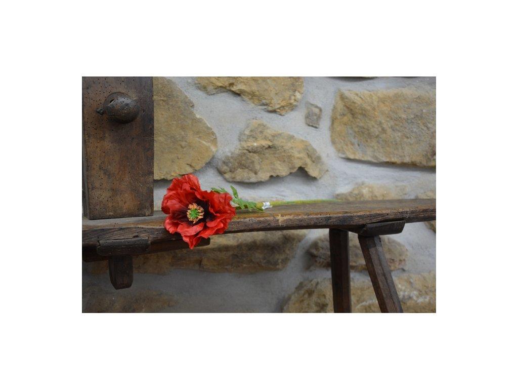 CERINO Umělá květina MÁK 58cm - 1ks květ na stonku