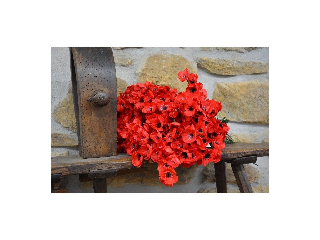 Umělá květina Makové květy 48cm