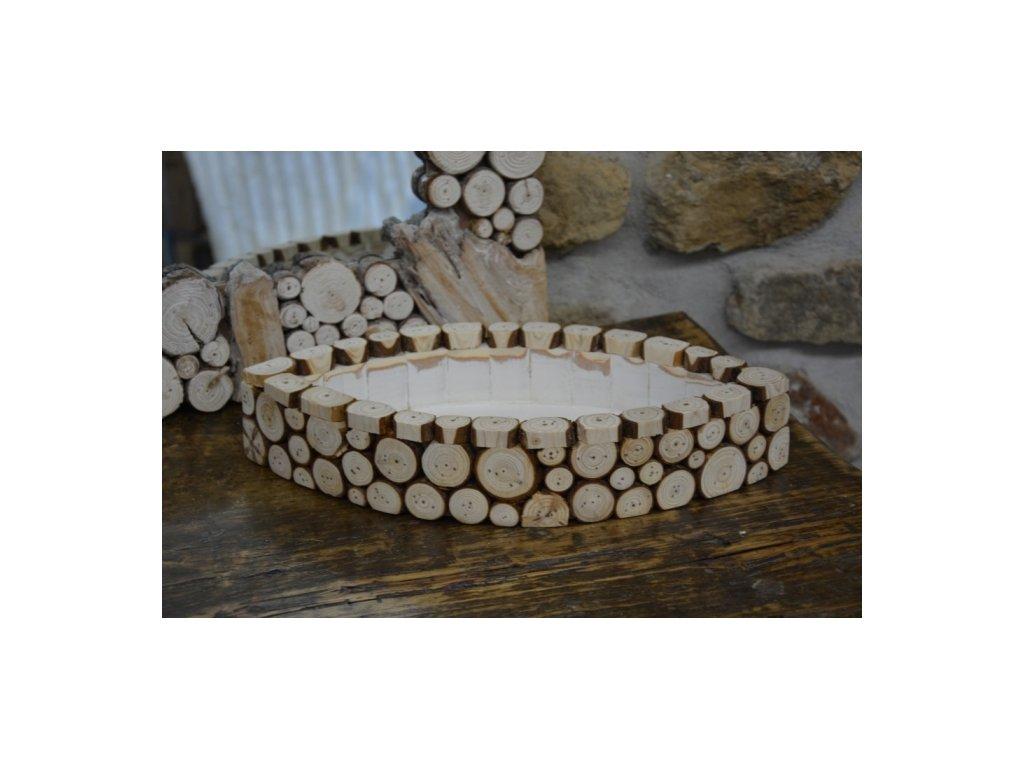 Cerino miska ve tvaru loďky 46x27x8cm dřevěná
