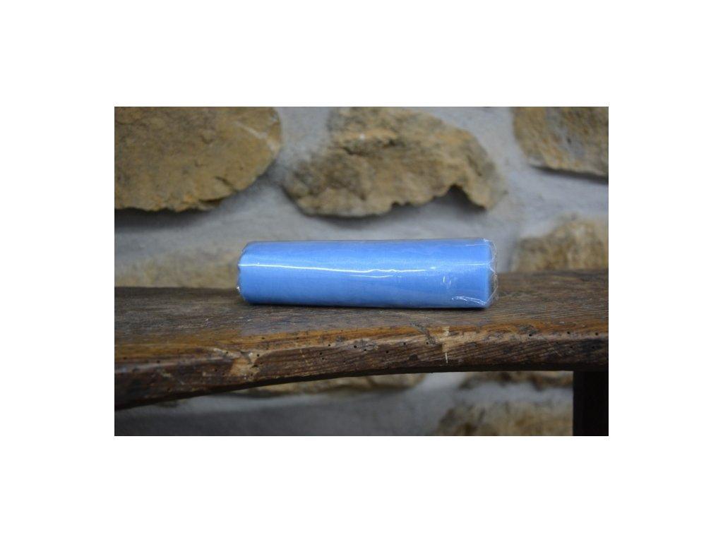 Organza na špulce hladká 0,15 x 9m modrá světlá