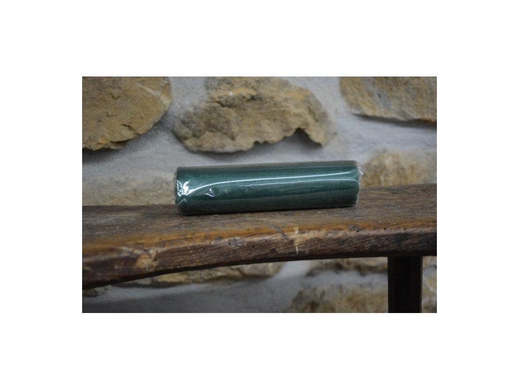 Organza na špulce hladká 0,15 x 9m zelená mechová