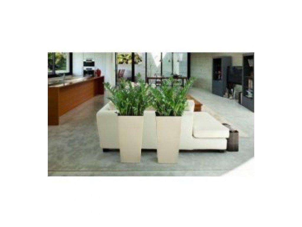 Lamela Květináč Finezia hladká 300x300 výška 57cm krémová
