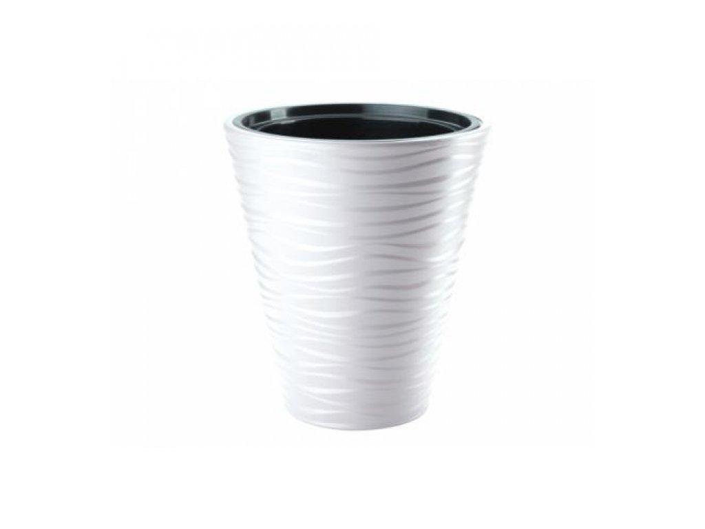 FORM Plastic Květináč Sahara mrazuvzdorný 40 bílý