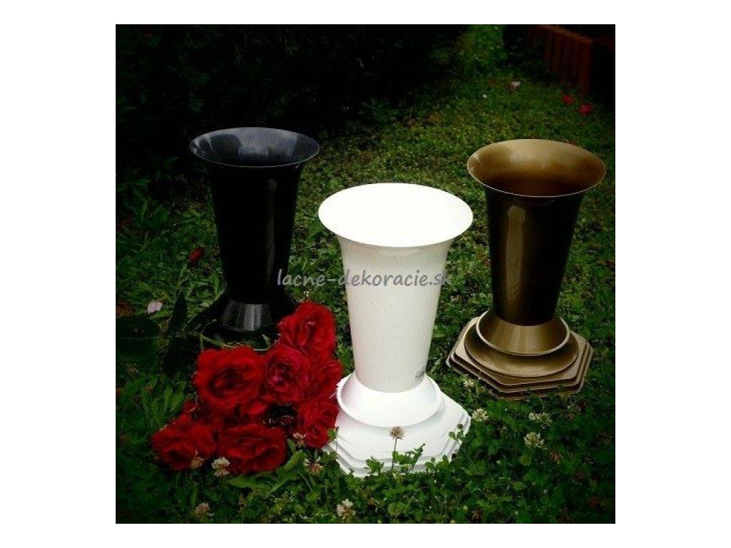 CERINO FLAKON FL2 Váza na hrob 32cm zlatá