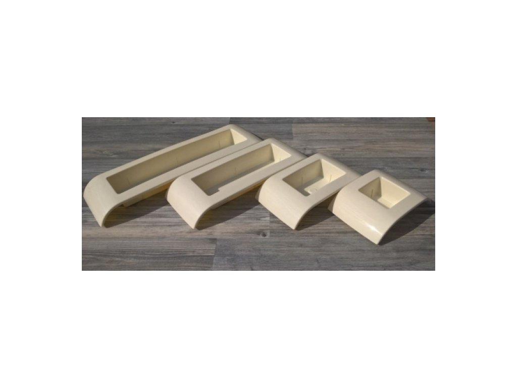 Don-plast Aranžovací nádoba Ikebana IK1 25x13 krémová