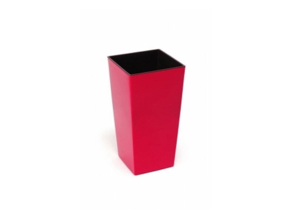 Lamela Květináč Finezia hladká 140x140 výška 25cm červená