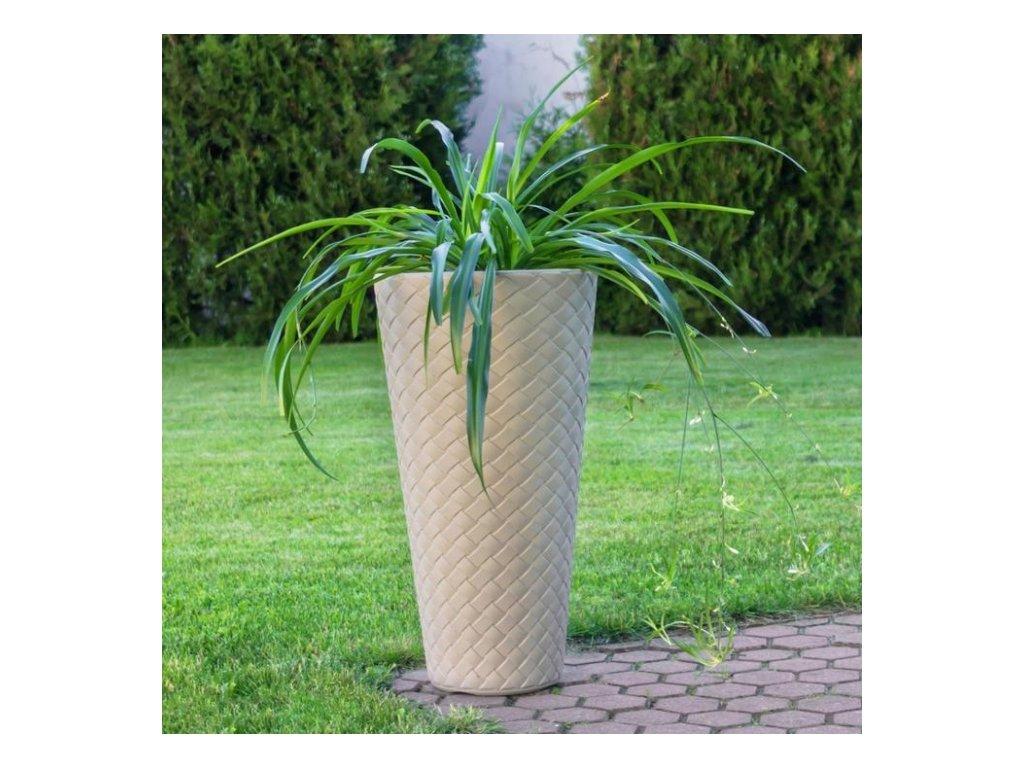 Prosperplast Květináč Matuba slim mrazuvzdorný DPMT 300, 30cm x výška 55cm, mocca