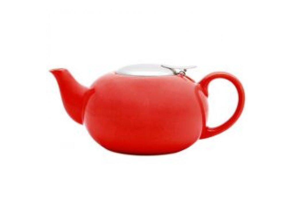 SEMPRO Čajová konvička na sypaný čaj 0,75L, červená