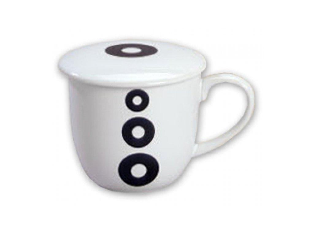 SEMPRO Hrneček na sypaný čaj se sítkem, kruhy