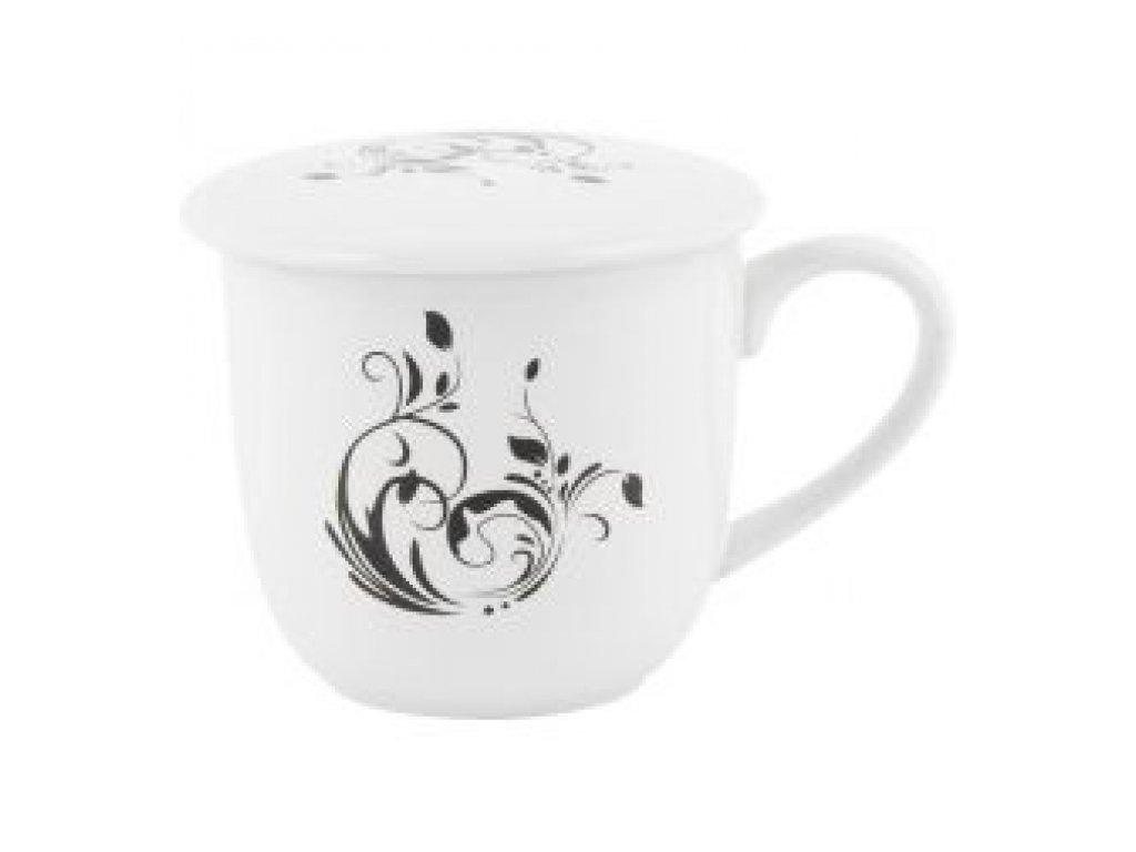 SEMPRO Hrneček na sypaný čaj se sítkem, ornament