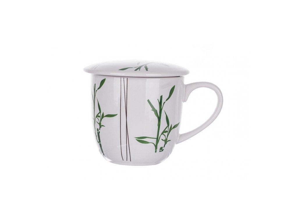 SEMPRO Hrneček na sypaný čaj se sítkem, bambus