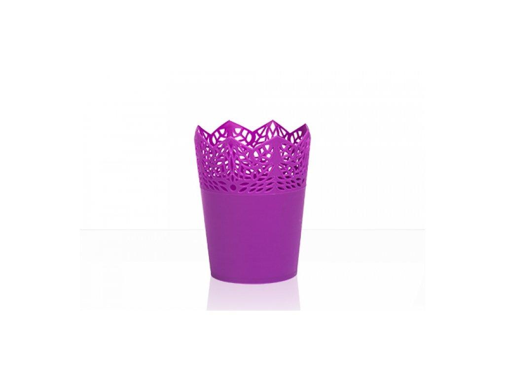 SEMPRO květináč Corona 14cm, výška 18cm fialová