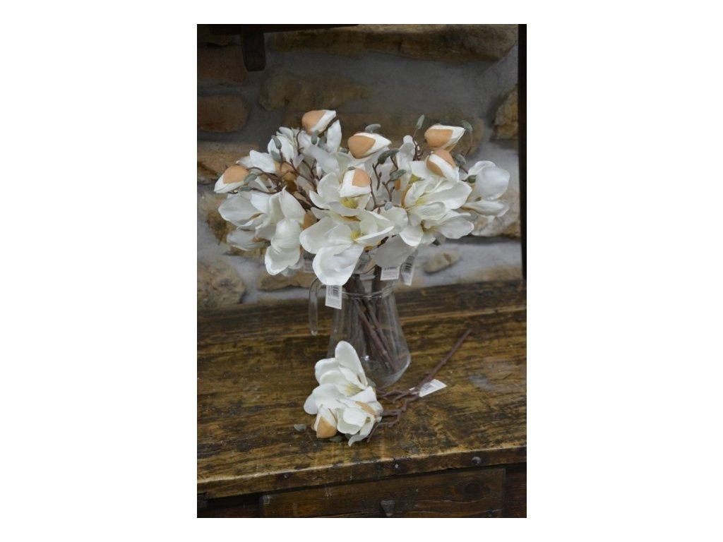 CERINO Umělá květina Magnolie 42cm bílá 1ks větvička