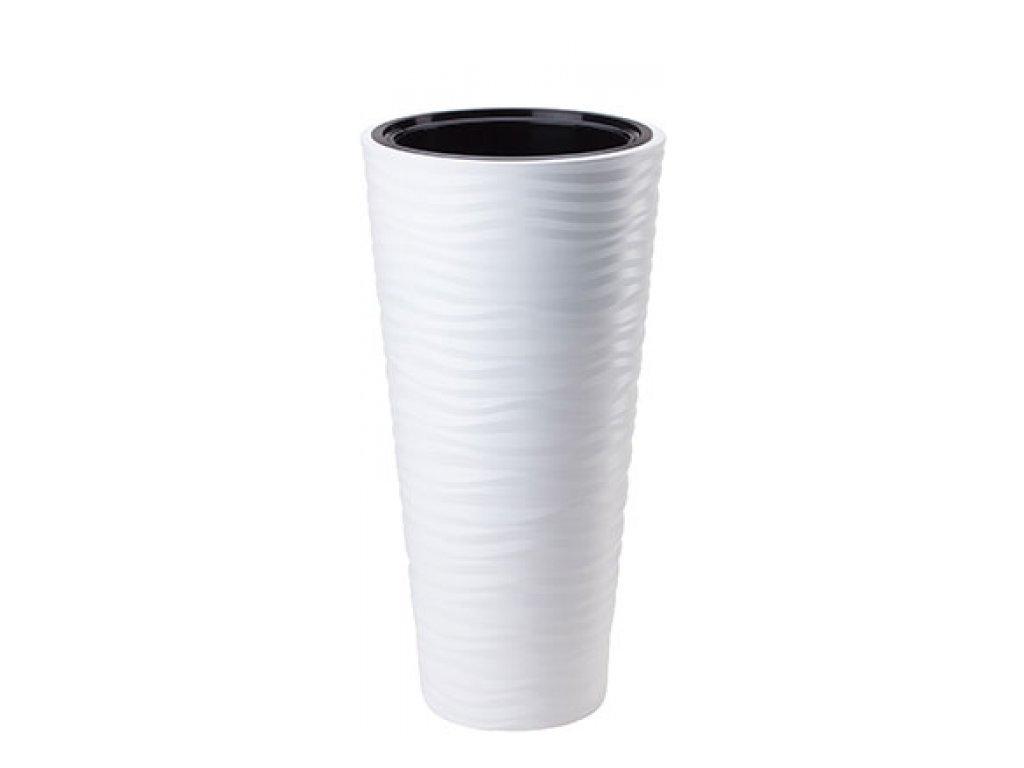 FORM Plastic Květináč Sahara slim mrazuvzdorný, 30cm x výška 55cm, bílý