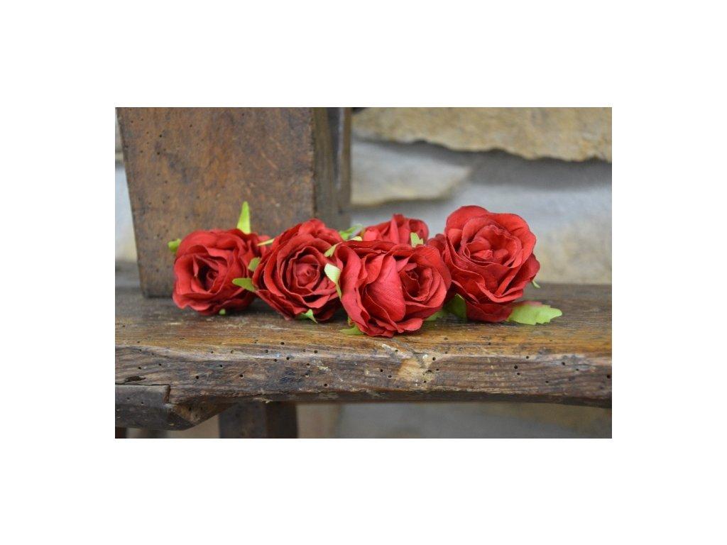 CERINO Umělá květina Květ růže aranžovací 5cm červená