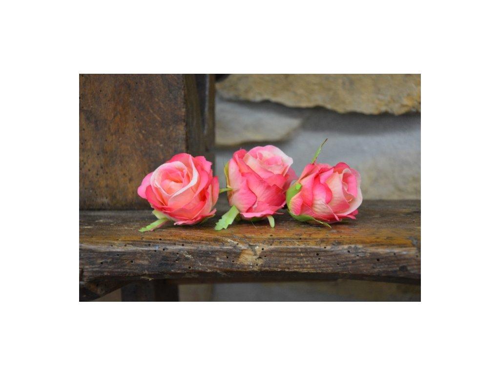CERINO Umělá květina Květ aranžovací 5cm růžová