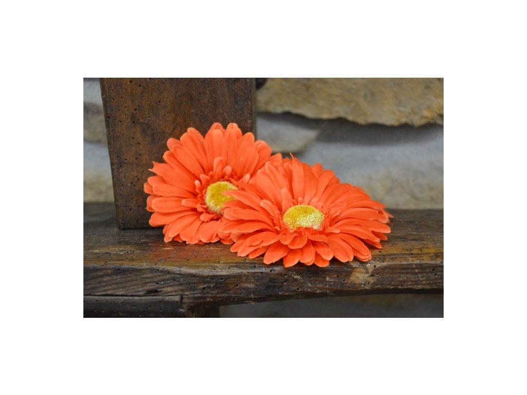 CERINO Umělá květina Květ gerbera 11cm oranžový