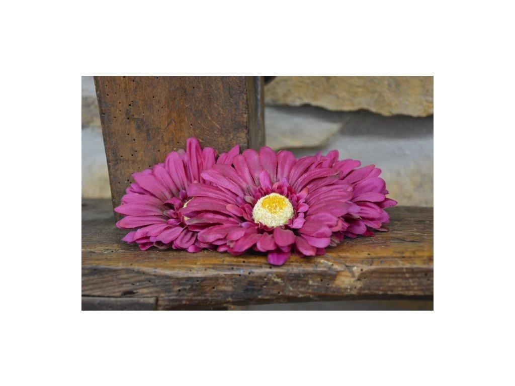 CERINO Umělá květina Květ gerbera 11cm fialový