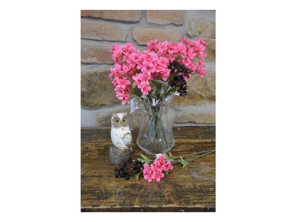 CERINO Umělá květina Květ polní růžový 40cm 1ks