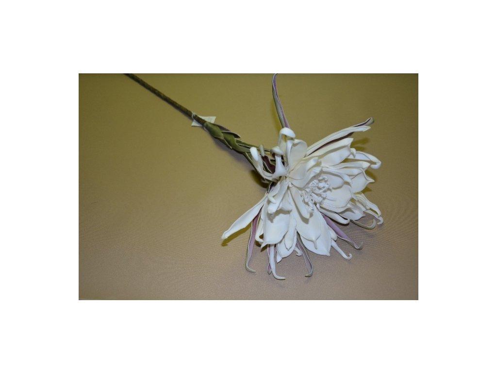 CERINO Umělá květina Pěnový květ K02793 bílá 1ks