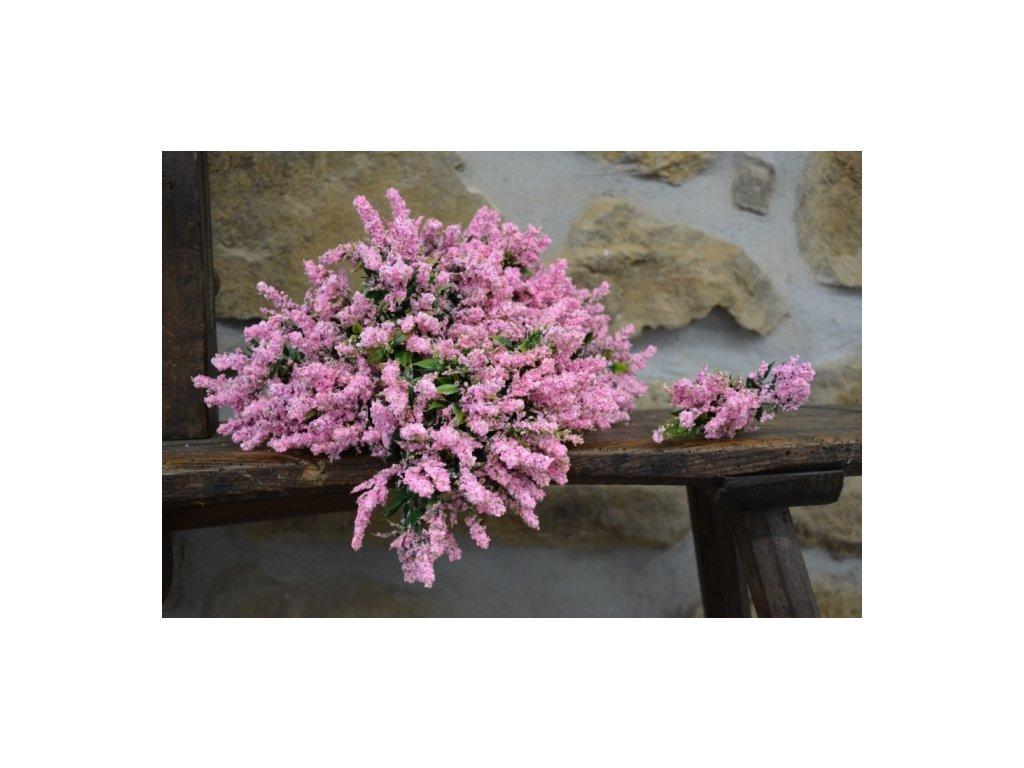 CERINO Umělá květina VŘES 24cm růžový 1ks trsík