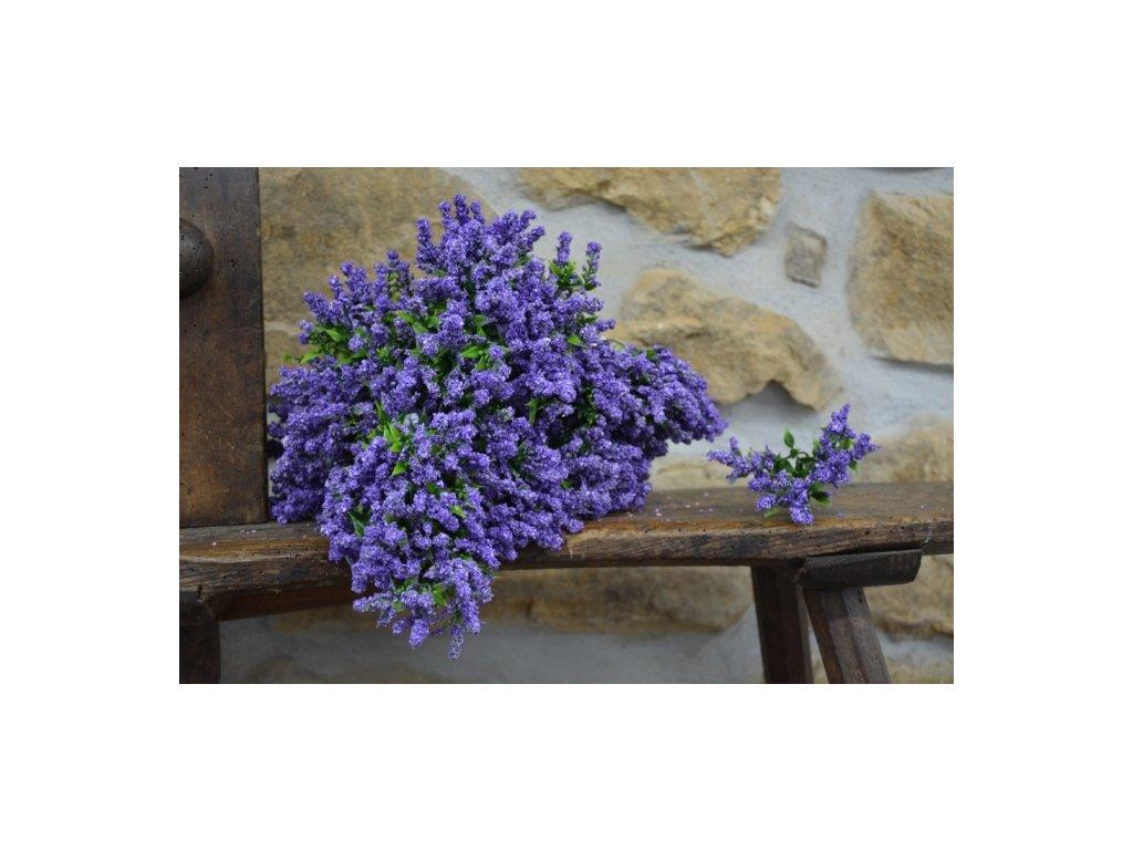 CERINO Umělá květina VŘES 24cm fialový 1ks trsík